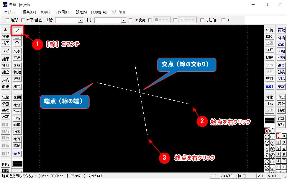 端点と交点