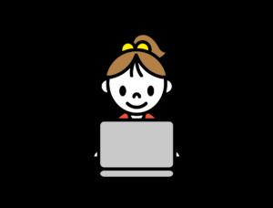 パソコンしている女の子