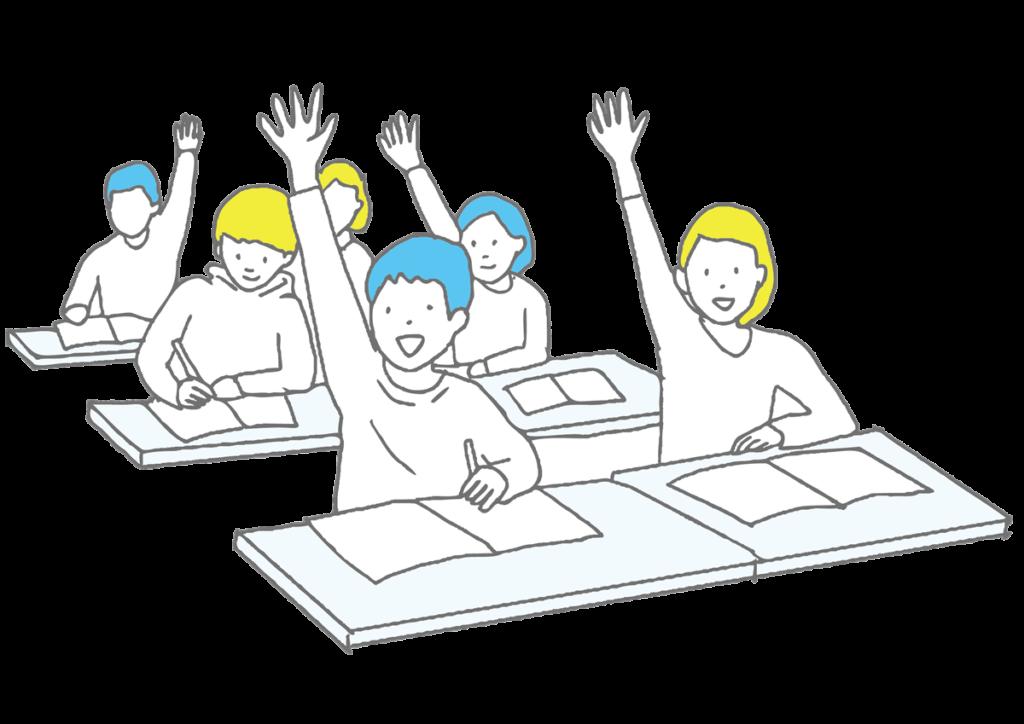 授業中の子供たち
